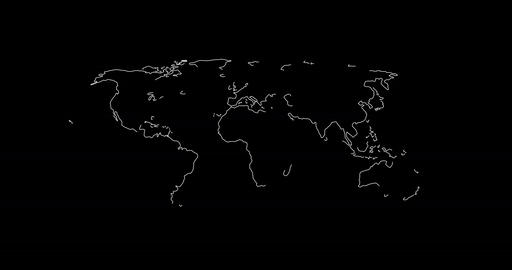 World map in lines