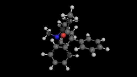 methadone molecule model rotating Animation