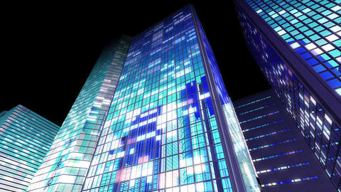 Skyscraper 2 Db2 night7 4k Animation