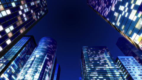 Skyscraper 2 Gb2 night 4k Animation