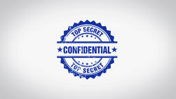 """ CONFIDENTIAL "" 3D Animated Round Wooden Stamp Animation CG動画素材"