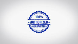 """Authorized"" 3D Animated Round Wooden Stamp Animation Animation"