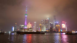 Pudong New Area Night view 02 4K Footage