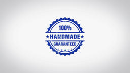 """""""100% Handmade"""" 3D Animated Round Wooden Stamp Animation Animation"""