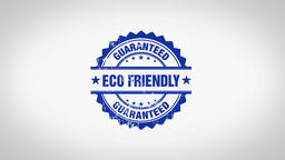 """Eco Friendly"" 3D Animated Round Wooden Stamp Animation Animation"