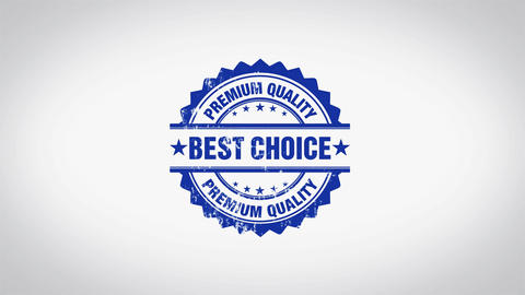 """ BEST CHOICE "" 3D Animated Round Wooden Stamp Animation Animation"