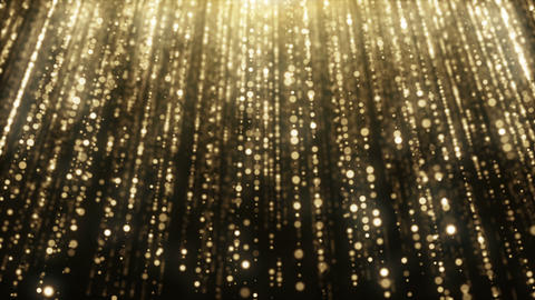 Particles gold glitter bokeh award dust abstract background loop 36 Animation