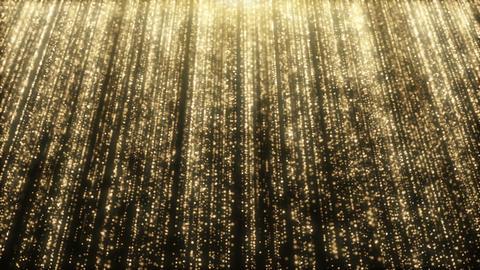 Particles gold glitter bokeh award dust abstract background loop 37 Animation