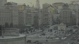Architecture Of Kiev. Ukraine. City center Footage
