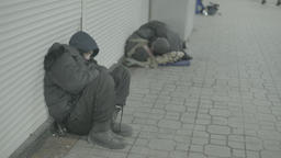Homeless in the underpass Footage