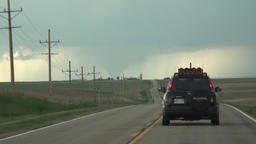Tornado - storm chasers in hot pursuit Footage