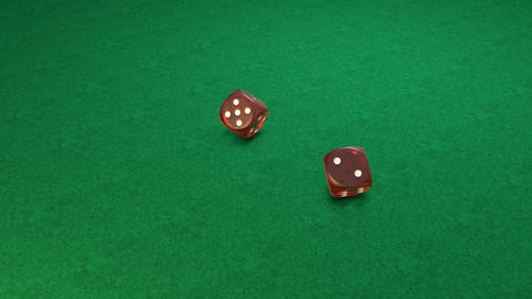 Red dice rolling Animation