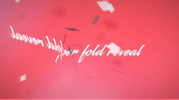 Folding Logo Reveal After Effects Templates