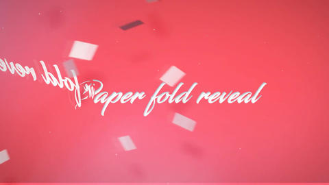 Folding Logo Reveal After Effects Template
