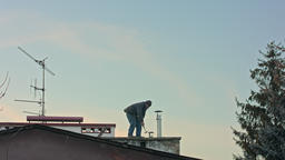 Builder Man with Screwdriver Machine Footage