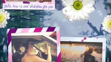 Flowers on water slideshow After Effects Templates