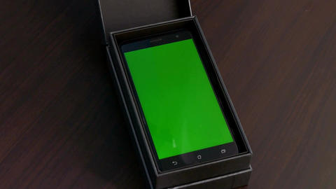 Green screen phone in box Live Action