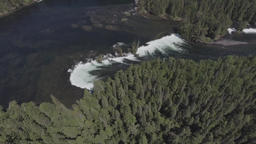 Aerial view of a waterfall in the forest Footage