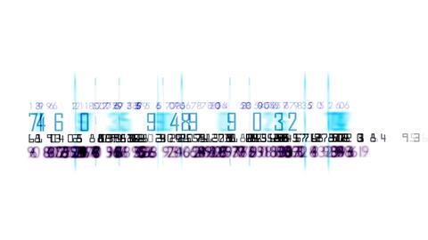 4k numbers & words scrolling across the screen,finance digital tech data backgro Footage