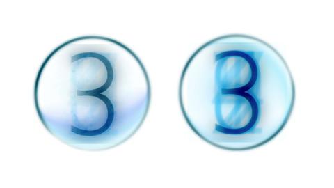 4k countdown golden figure & numbers on screen,finance digital tech data backgro Footage