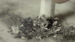 The cigarette butt extinguish (macro) Footage