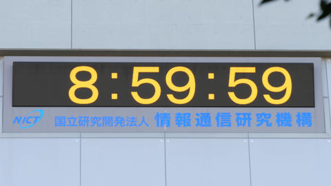 Countdown of leap second adjustment on January 1, 2017 Footage
