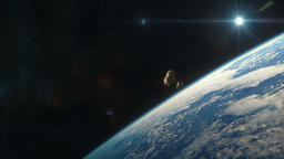 Asteroids Approaching Earth Animation