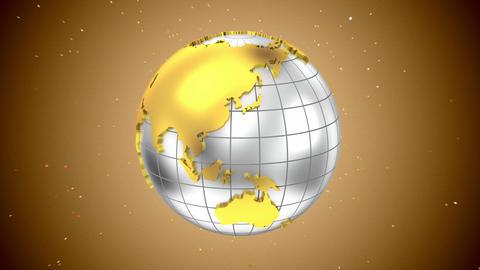 Rotating Golden Globe Animation