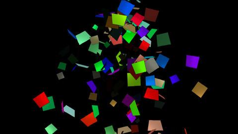 falling paper card scrap,explosion debris Stock Video Footage