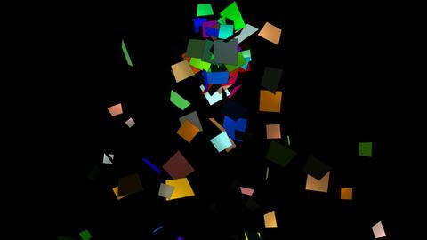 falling paper card scrap,explosion debris Animation
