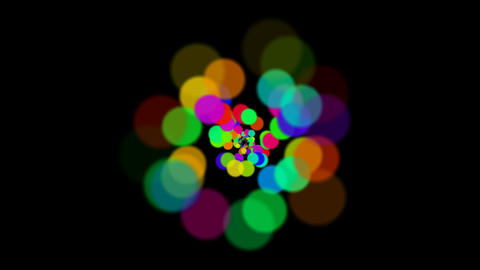 abstract colorful circles loop at night,bubble and... Stock Video Footage