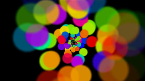 abstract colorful circles loop at night,bubble and blister array background,danc Animation