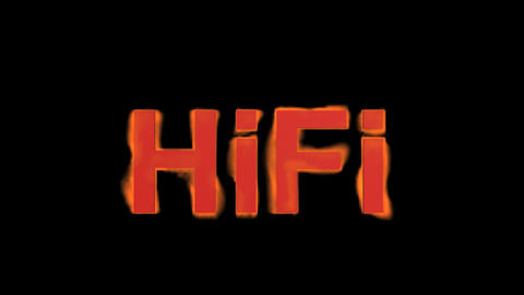 flame hifi word,fire text Stock Video Footage