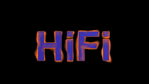 flame blue hifi word,fire text Stock Video Footage