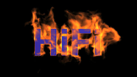 flame blue hifi word,fire text Animation