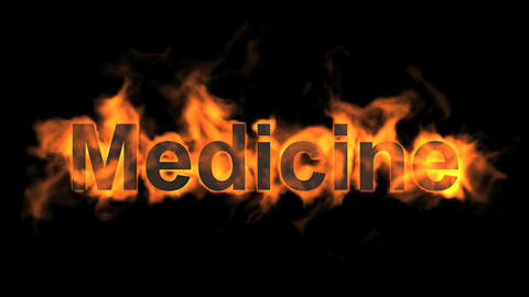 flame medicine word,fire text Stock Video Footage
