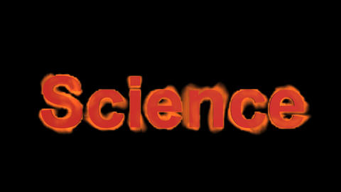 flame science word,fire text Stock Video Footage