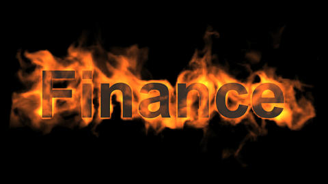 flame finance word Stock Video Footage