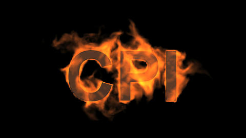 flame CPI word,fire text Animation