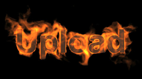 flame upload word Animation