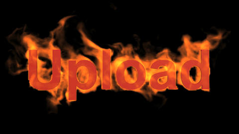 flame upload word Stock Video Footage