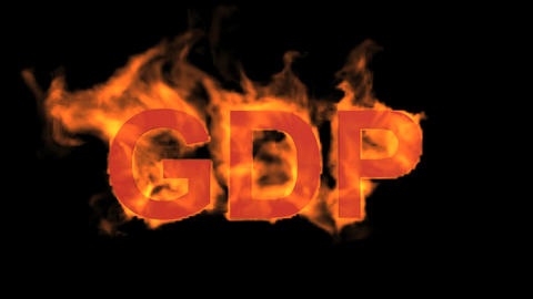flame GDP word,fire text Stock Video Footage