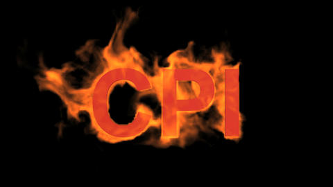 flame CPI word,fire text Stock Video Footage