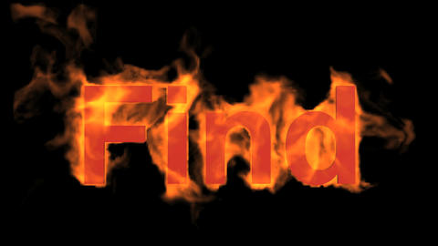 flame find word,fire text Animation