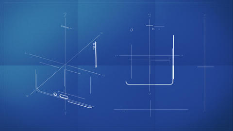 Tablet PC Blueprint Stock Video Footage