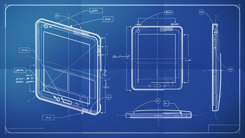 Tablet PC Blueprint Animation