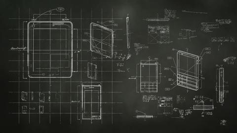 Technology Design Blackboard Stock Video Footage