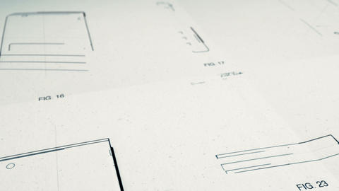 Technology Patents Drawing Animation Stock Video Footage