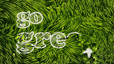 Generic Go Green Logo Scribbling on Green Environment Stock Video Footage