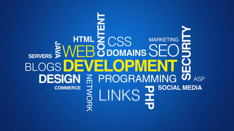 Web Development Text Animation Stock Video Footage